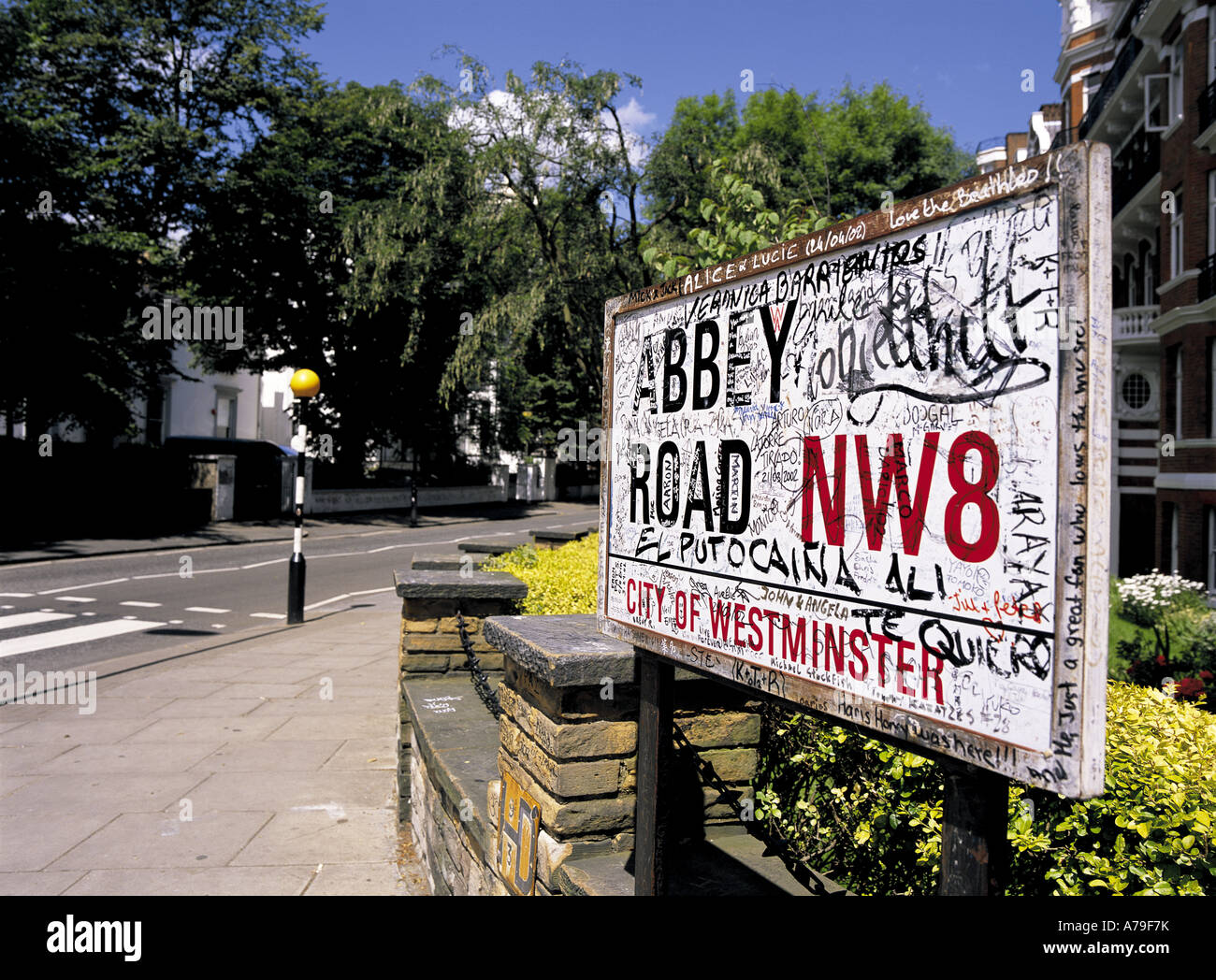 The Beatles Abbey Road London England - Stock Image