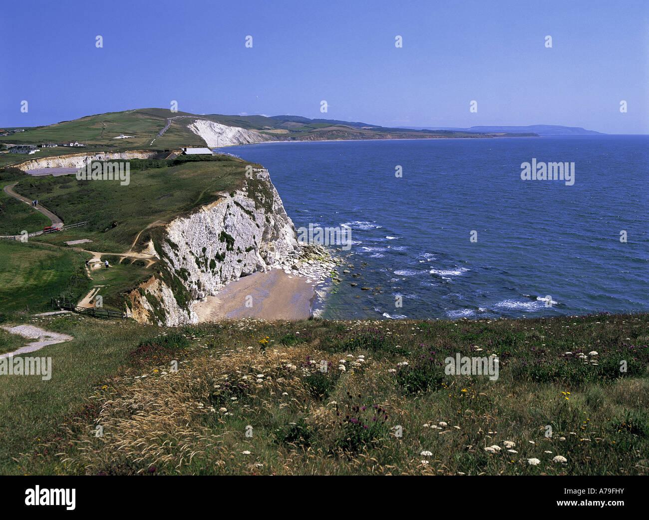 Freshwater Bay Isle of Wight England - Stock Image