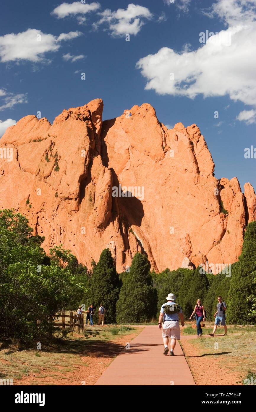 Stock photograph of Garden of the Gods Park a Registered National Natural Landmark near Colorado Springs Colorado - Stock Image