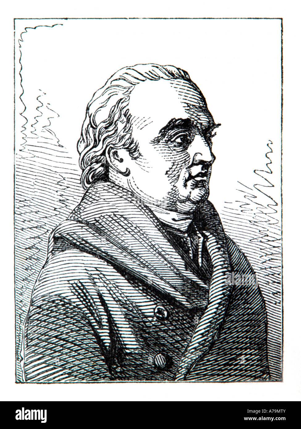 Sir William Herschel 18th Century Astronomer - Stock Image