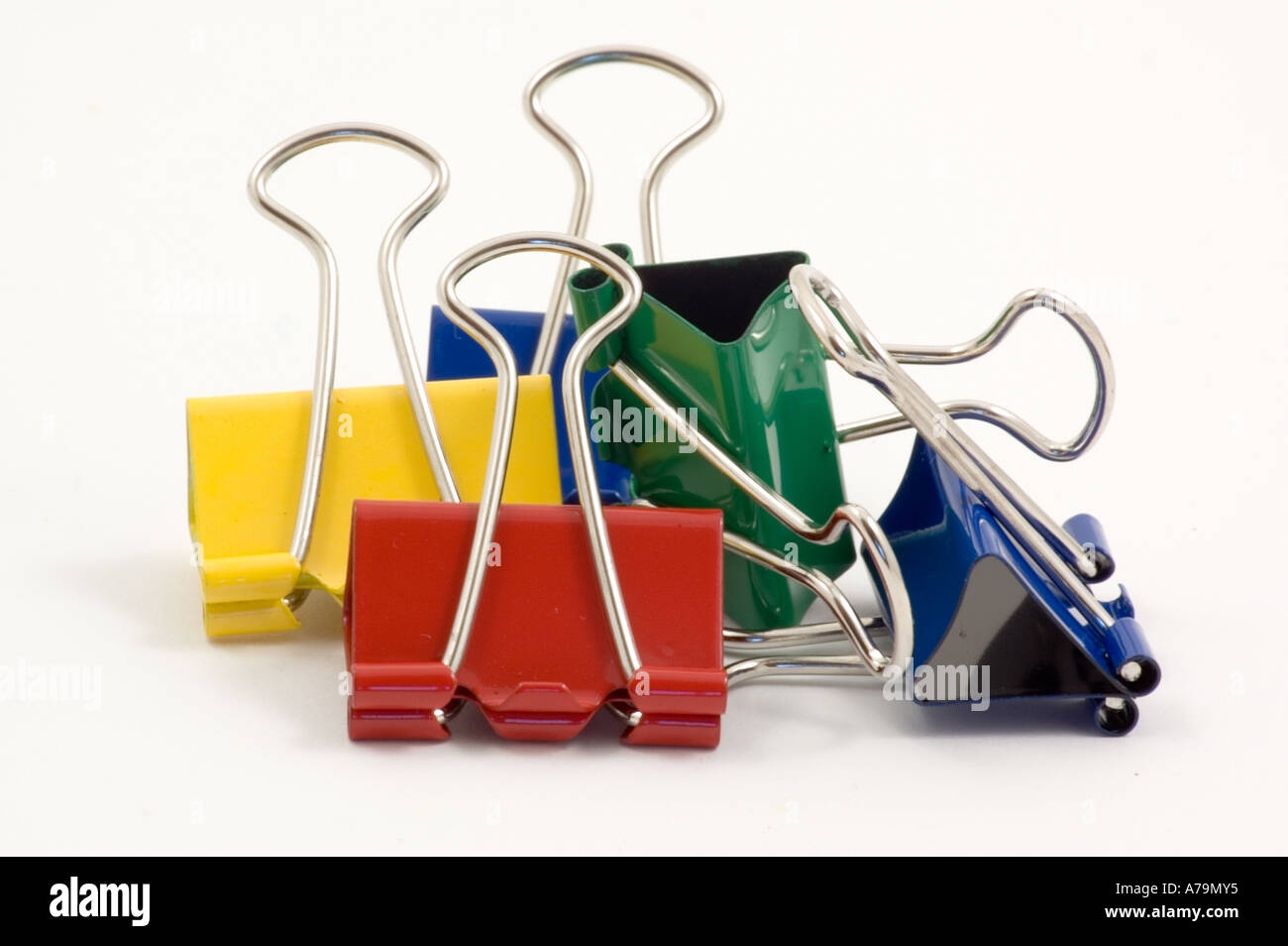Bulldog clips - Stock Image