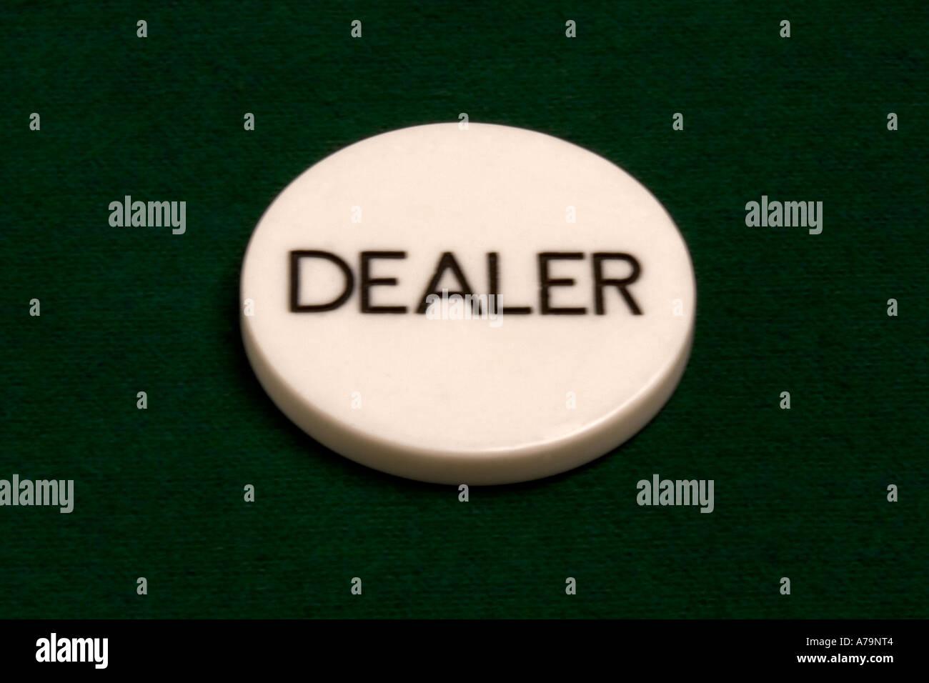 Dealer button - Stock Image