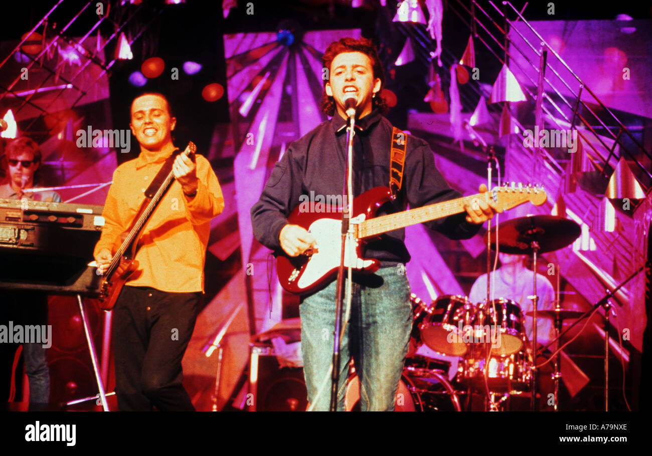TEARS FOR FEARS UK group with Curt Smith at left and Roland Orzabal - Stock Image