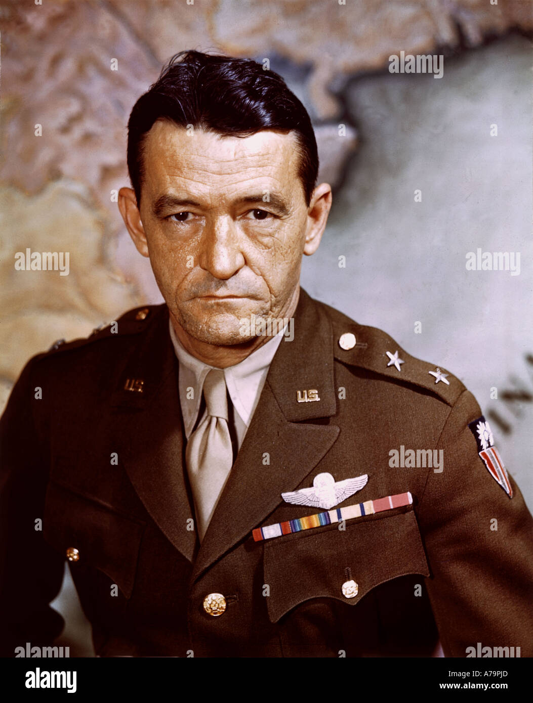 CLAIRE LEE CHENNAULT  1893 to 1958 US as Lieutenant General of US Army Airforce about 1943 - Stock Image