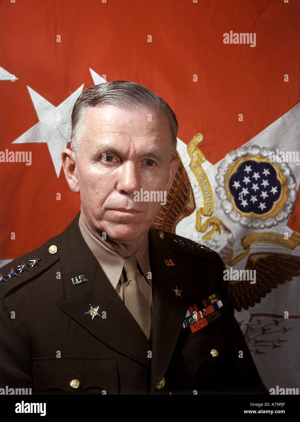 GEORGE MARSHALL  US soldier and politician 1880 to 1959 here as Chief of Staff during WW2 - Stock Image