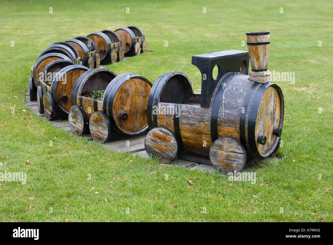 Upcycled Wooden Toy Train Engine Carriages Garden Furniture Made