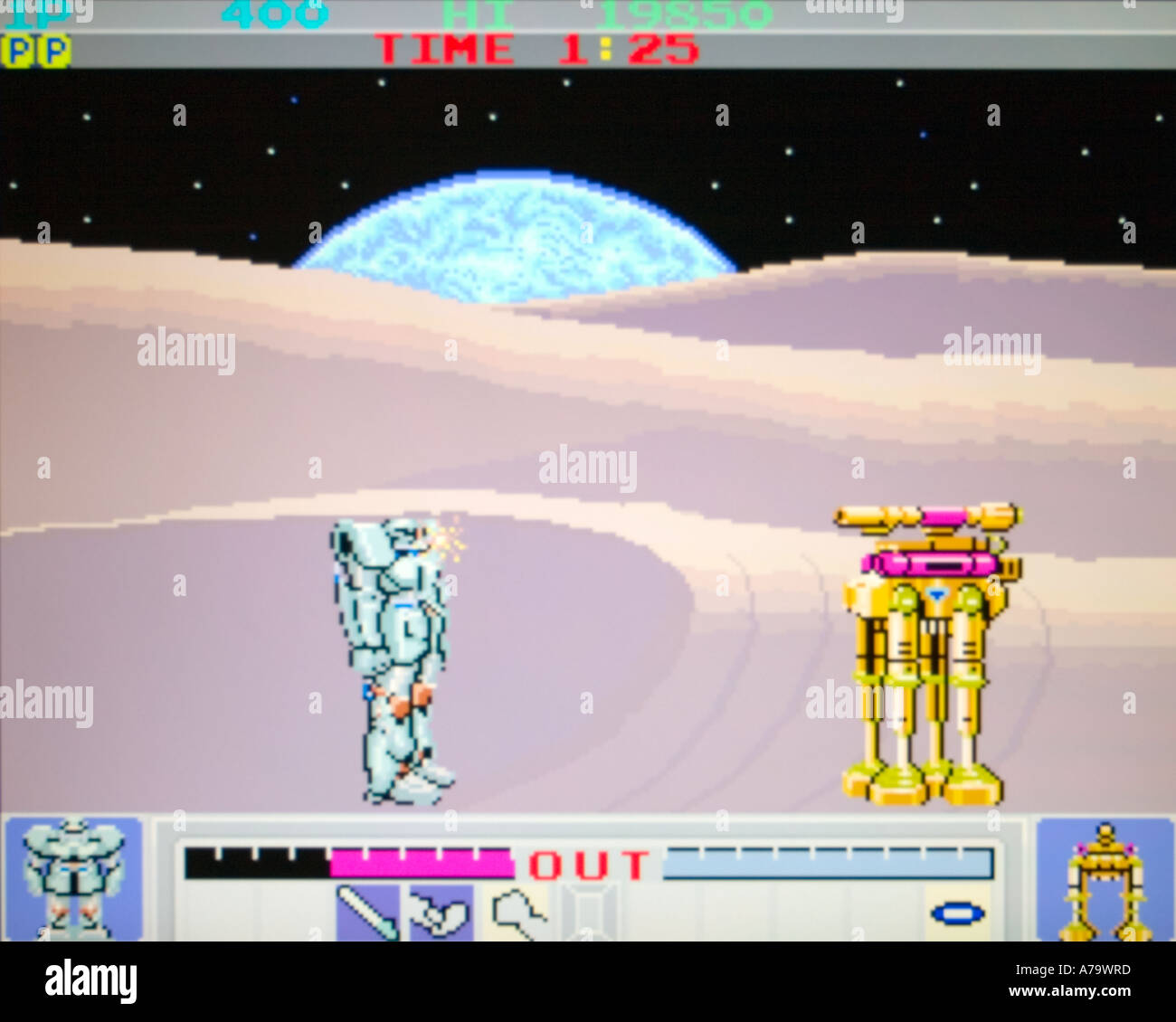 Galactic Warriors Konami 1985 vintage arcade videogame screenshot - EDITORIAL USE ONLY - Stock Image