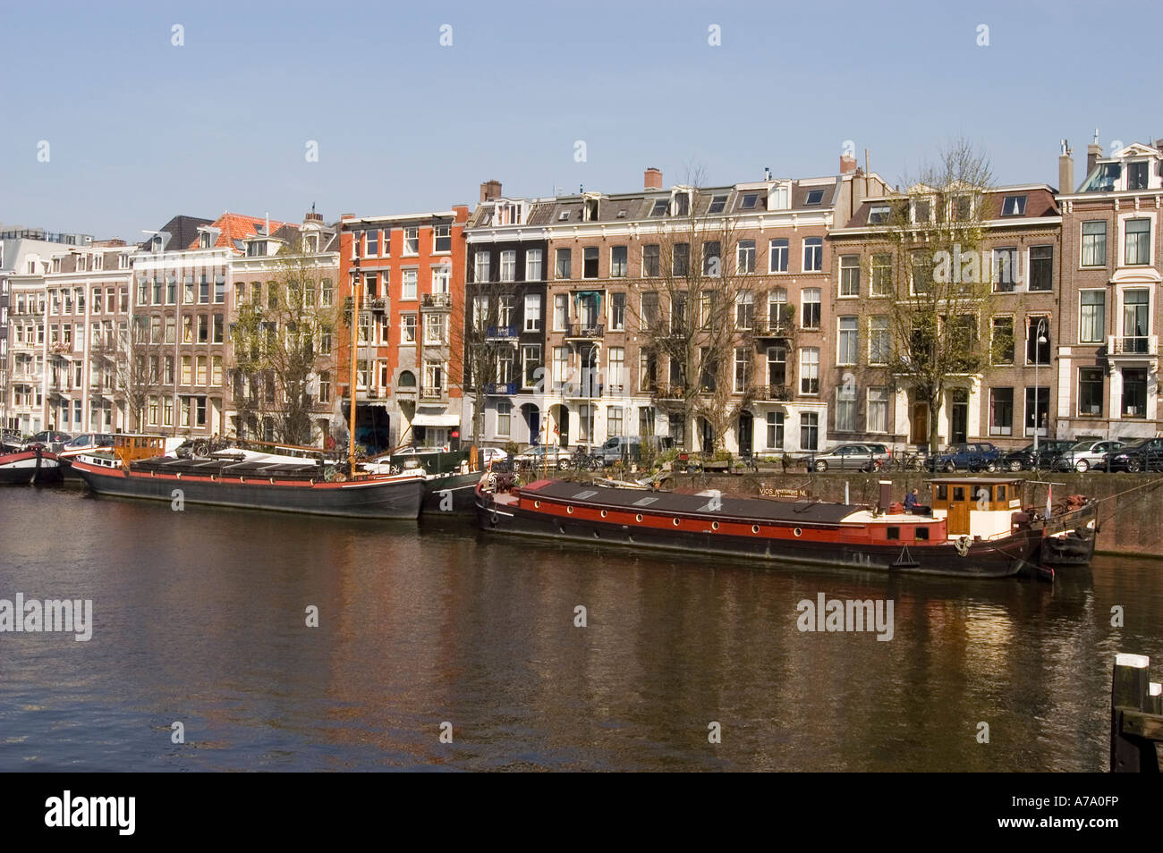 Amsterdam architecture buildings, Holland, Netherlands - Stock Image