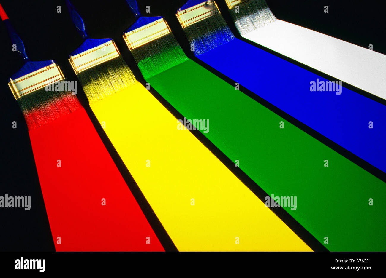 Paint spectrum - Stock Image