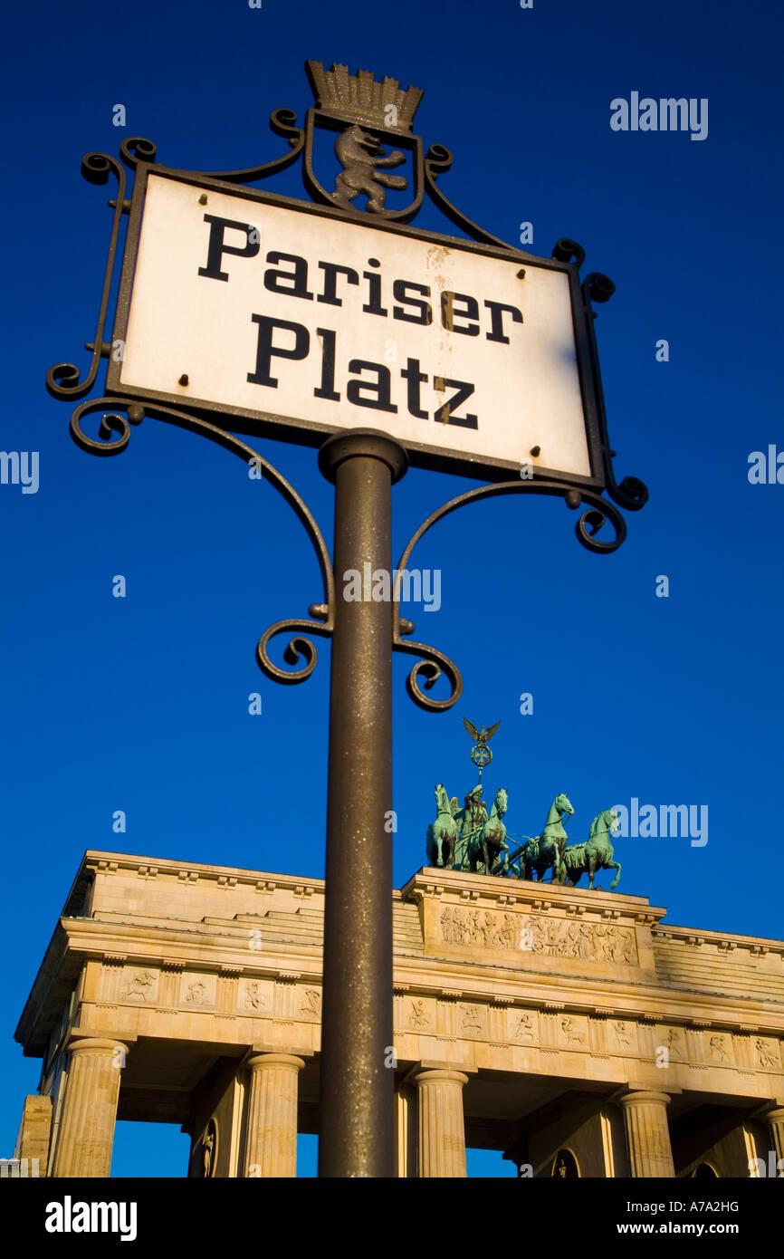 Brandenburg Gate Berlin Germany - Stock Image