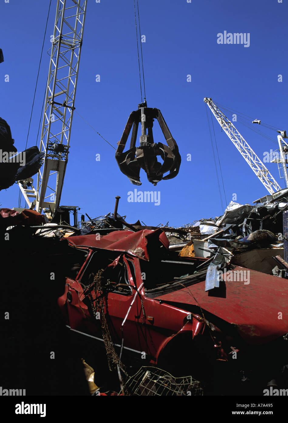 scrap yard - Stock Image