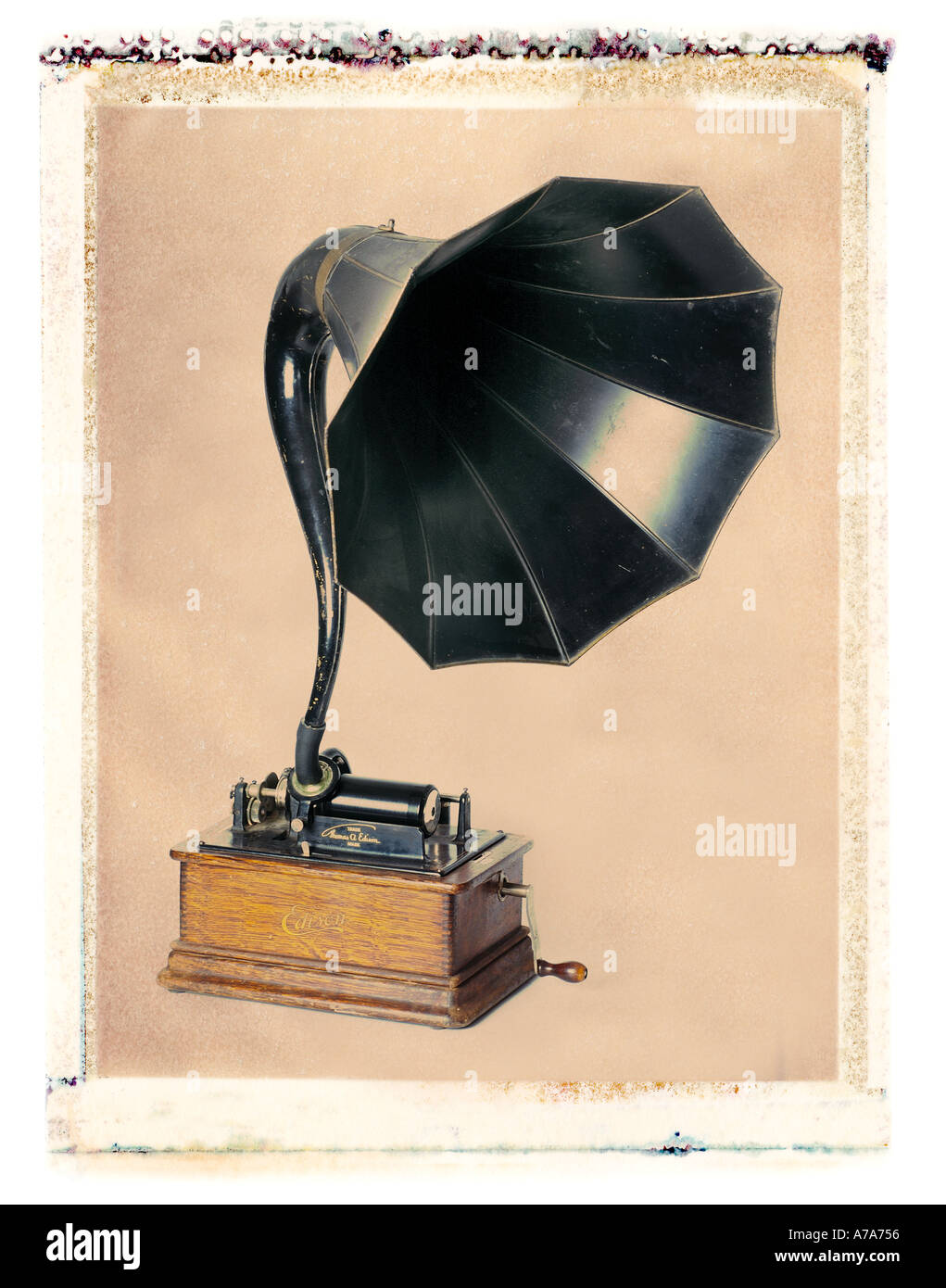 antique phonograph - Stock Image