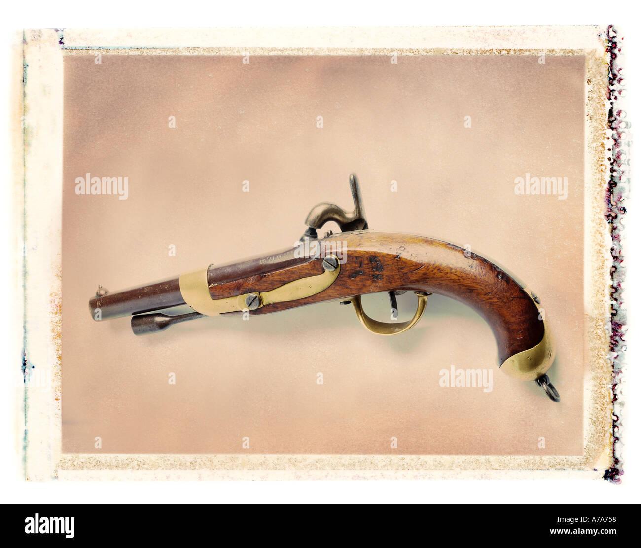 antique pistol - Stock Image