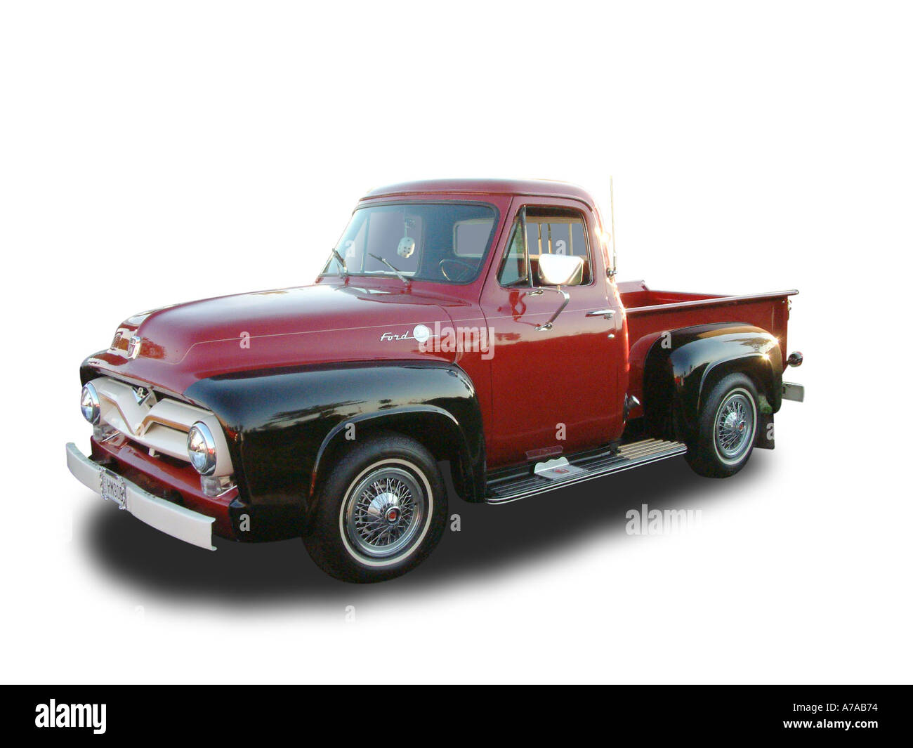 Ford F100 Pickup Truck Stock Photos 1955 Wide Bed Hm90b Image