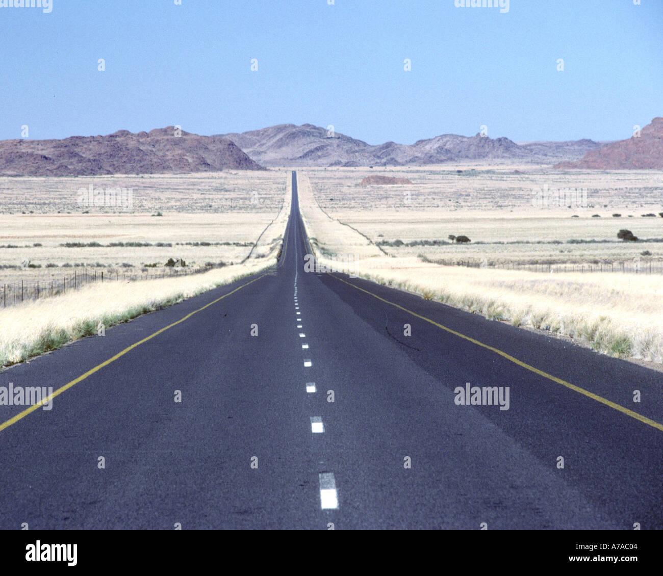 The N14 road in South Africa's Northern Cape province. Stock Photo