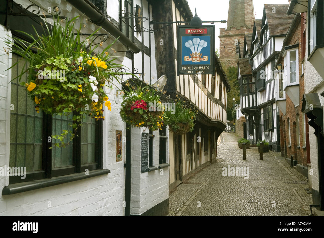 England. Herefordshire. Ledbury, Church Lane - Stock Image