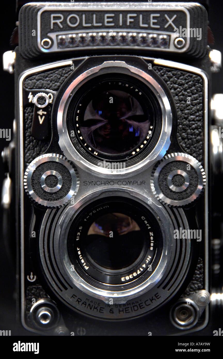 Rolleiflex Camera Stock Photo