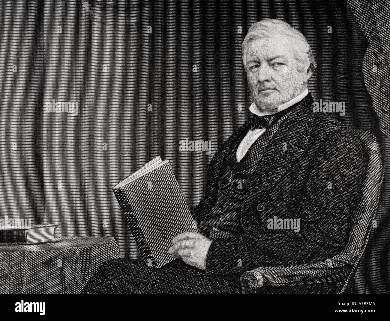 Millard Fillmore, 1800 - 1874. 13th president of the United States of America.  From a painting by Alonzo Chappel. Stock Photo