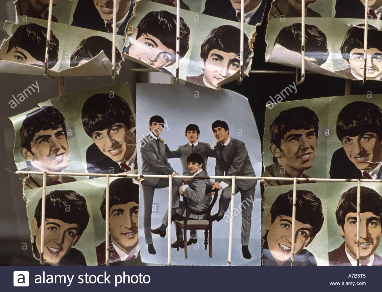 Antique Beatles Postcards - Stock Image
