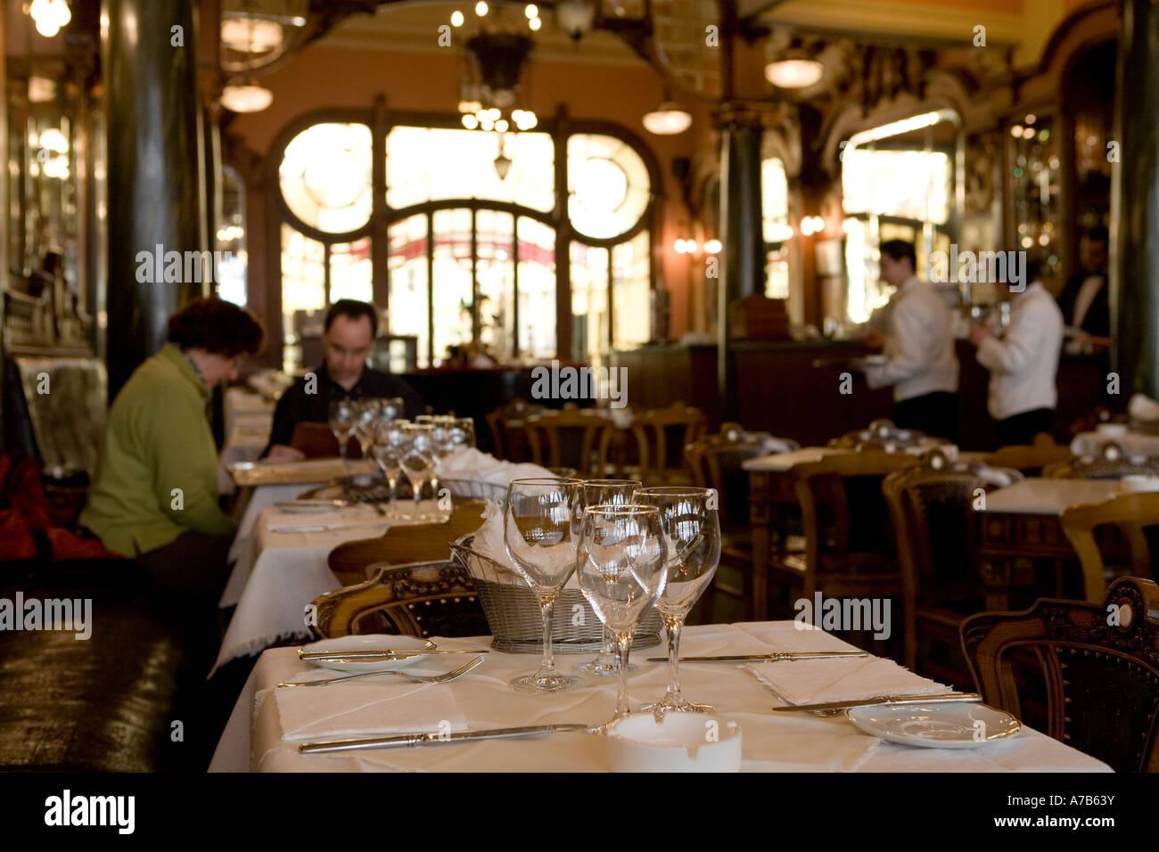 Art Deco Cafe Majestic Porto Portugal Stock Photo Alamy