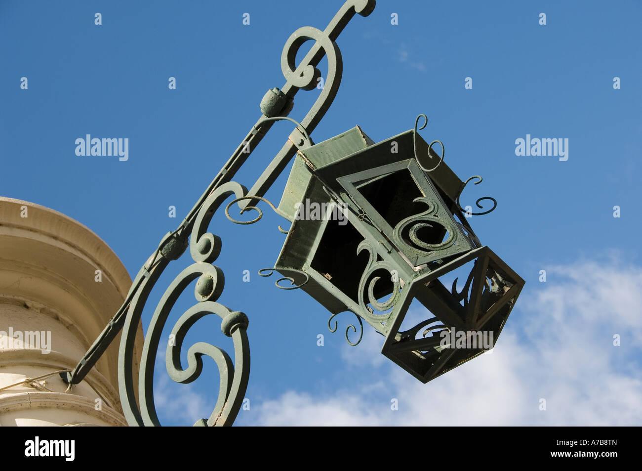 Ornate lamp Funchal Madeira Portugal EU Europe - Stock Image