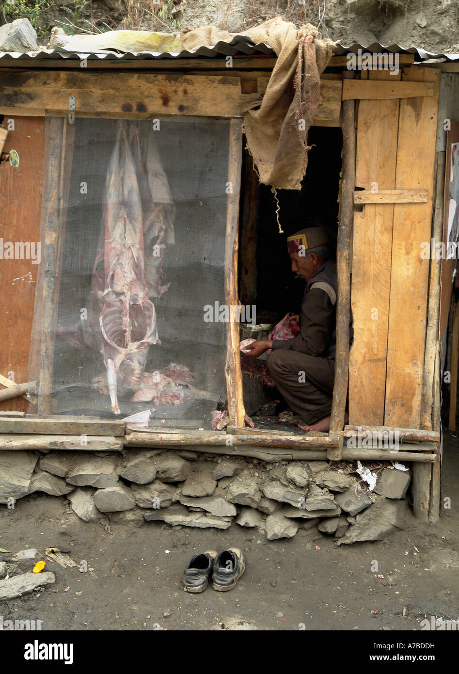 butcher kulu valley - Stock Image
