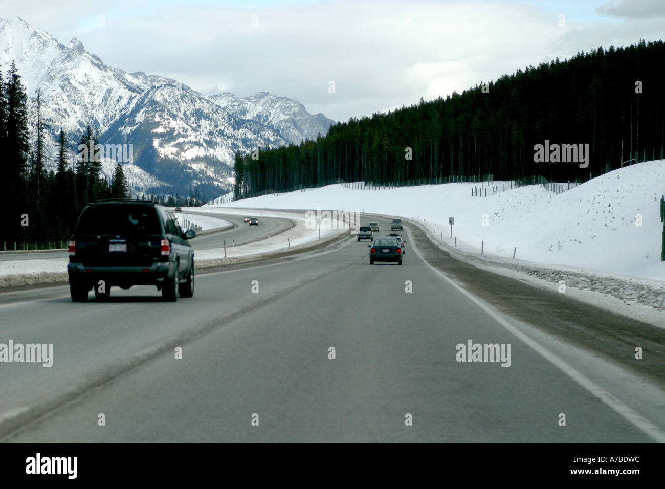 Winter travelling - Stock Image