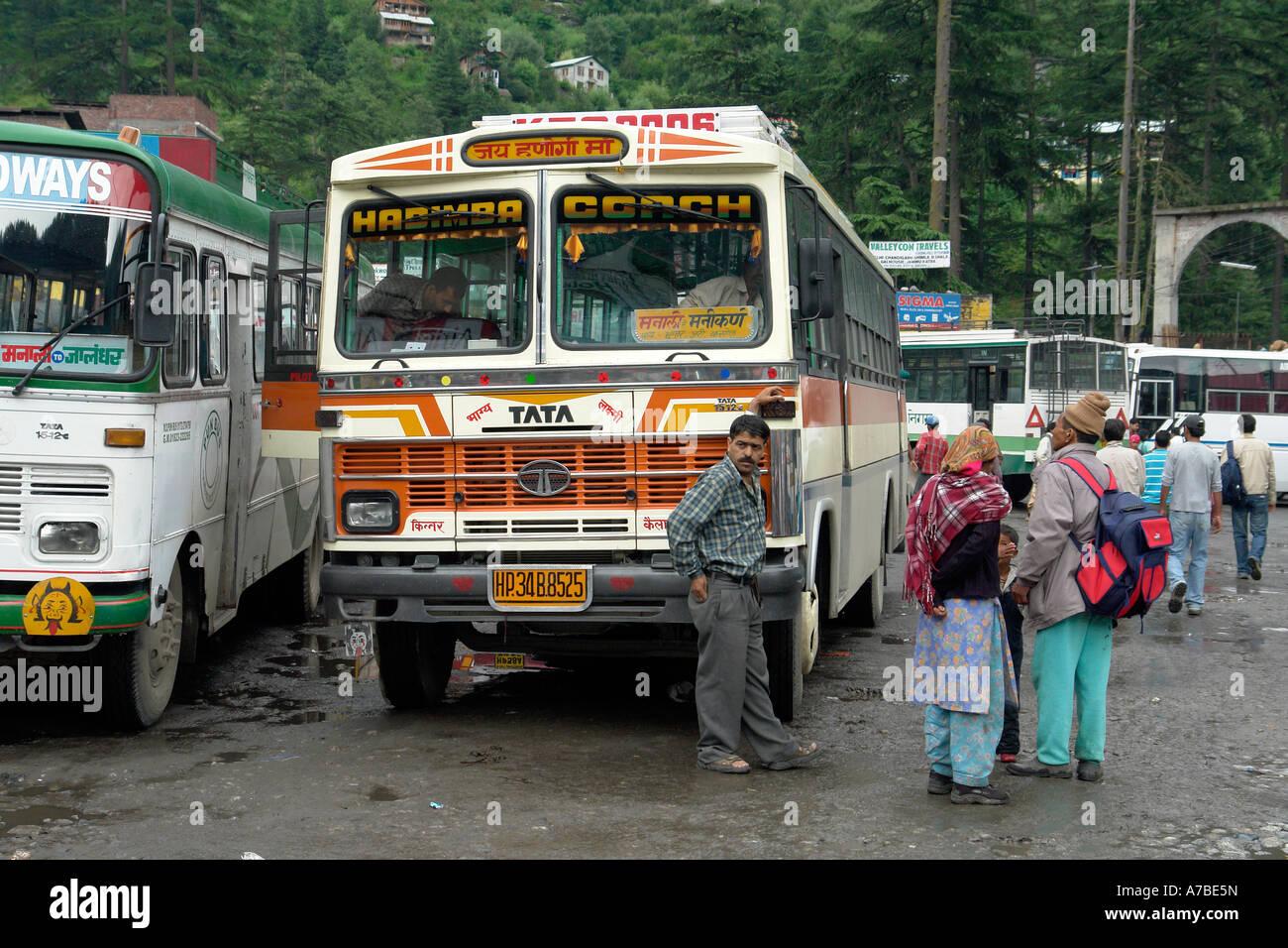 at manali bus station - Stock Image