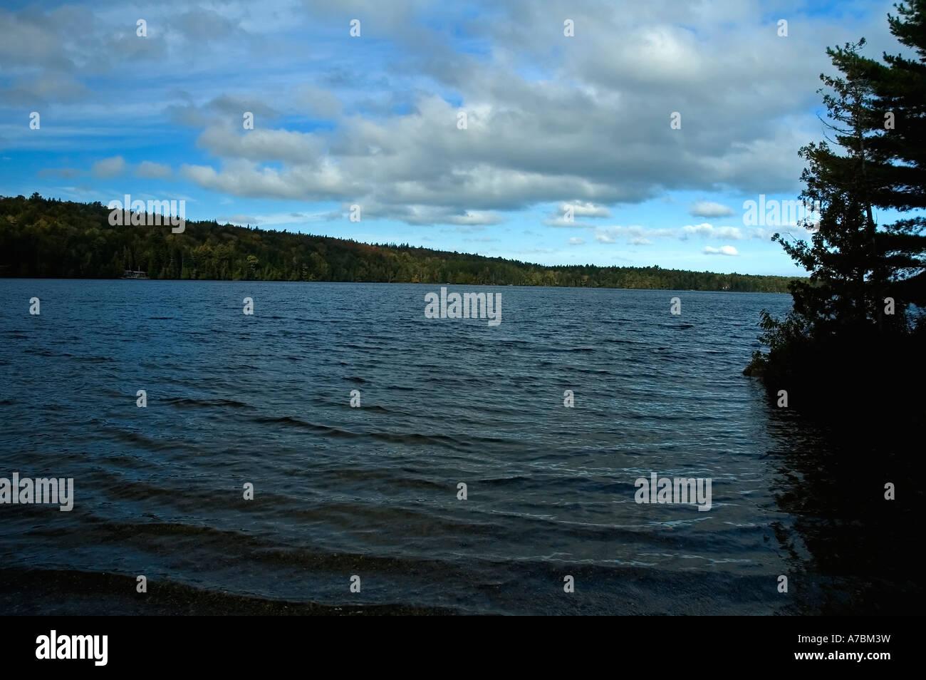 Echo Lake Maine - Stock Image