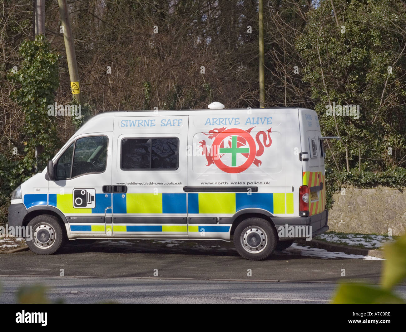 Mobile Speed Camera Van Stock Photos & Mobile Speed Camera