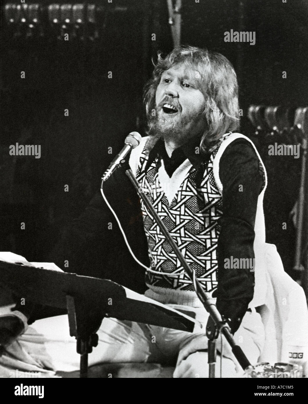 Harry Nilsson sings 'A Little Touch Of  Schmillson In The Night' his best record ever. Stock Photo