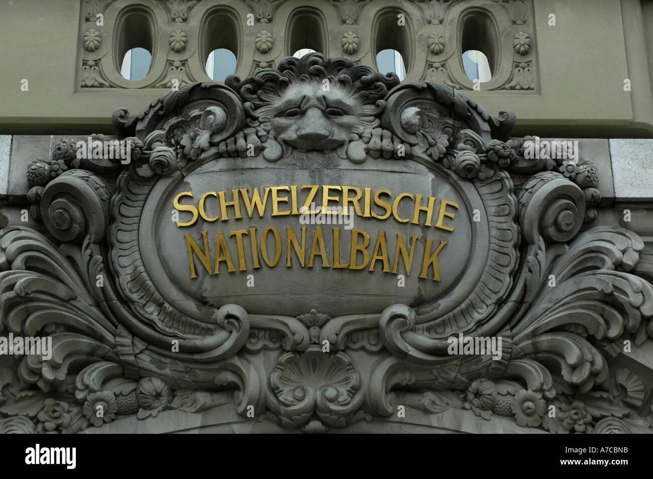 swiss national bank in bern, switzerland.  (c) by uli nusko, ch-3012 bern. - Stock Image