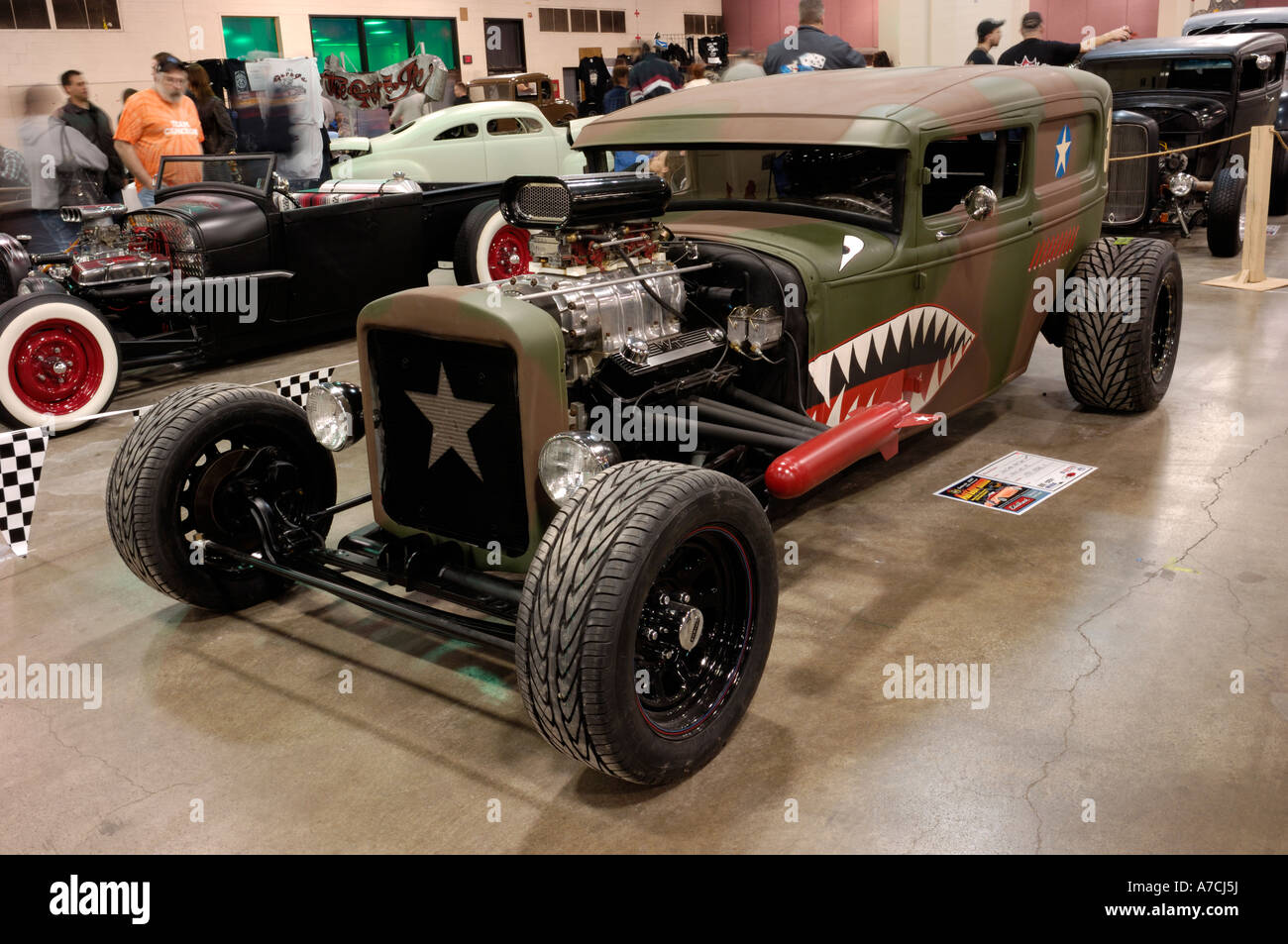 1931 Ford Model A traditional hot rod at the 2007 Detroit Autorama ...
