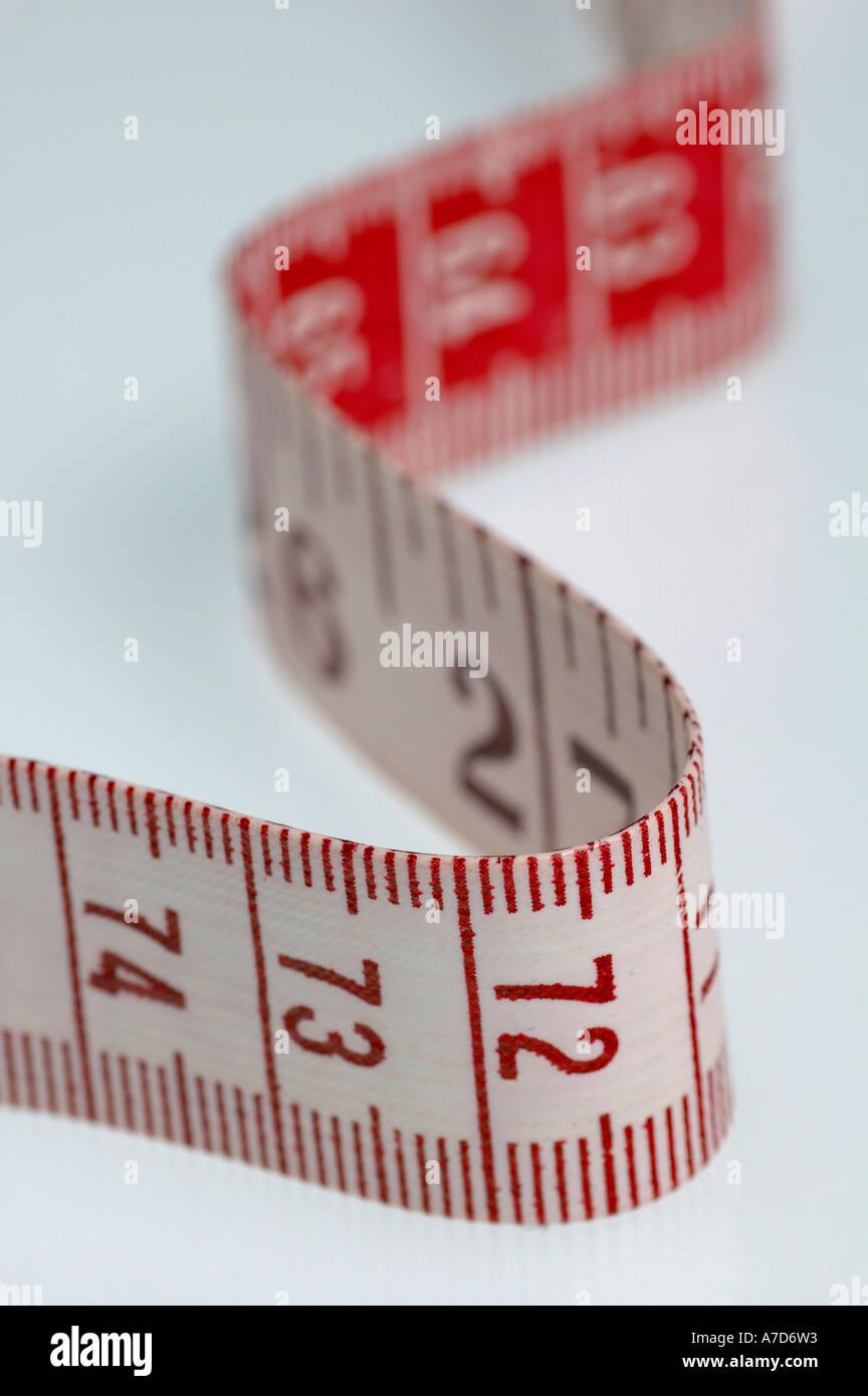 Measuring tape, metric tape measure for needlework, sewing work etc.. - Stock Image