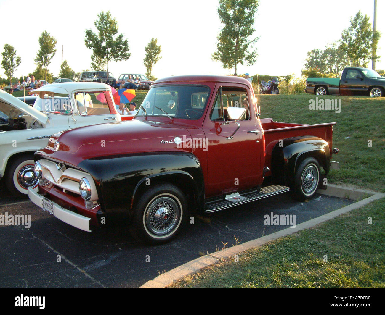 Ford F100 Stock Photos Images Alamy 1955 Panel Truck Pickup Hm90b Image