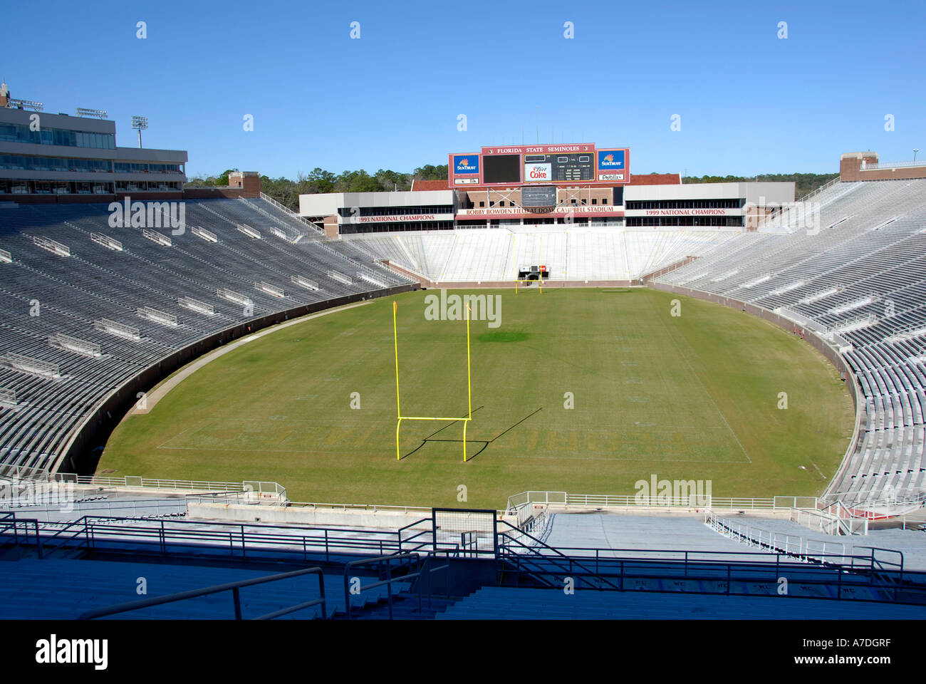 Doak S Campbell Football Stadium and Visitor Center on the Florida State University Campus Tallahassee Florida FL Seminoles - Stock Image