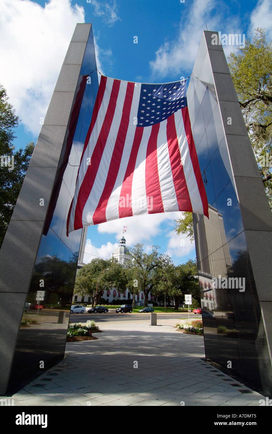 Viet Nam War Memorial Tallahassee Florida - Stock Image