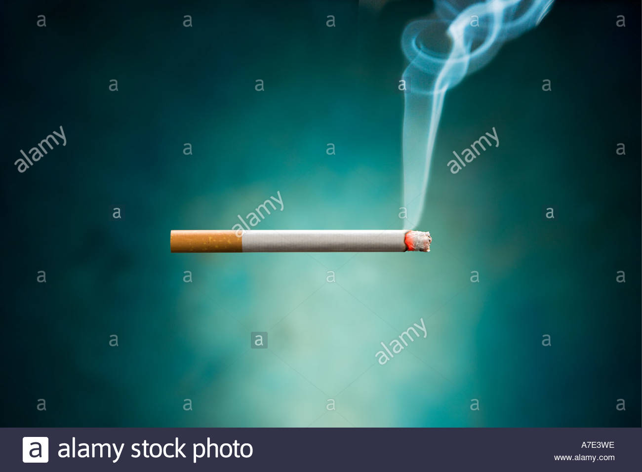Smoking Cigarette. - Stock Image