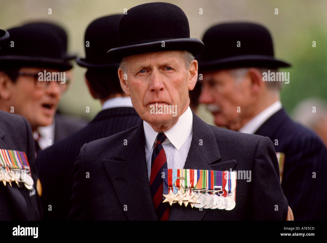 A retired officer at the annual Combined Cavalry Parade through Hyde Park London England - Stock Image