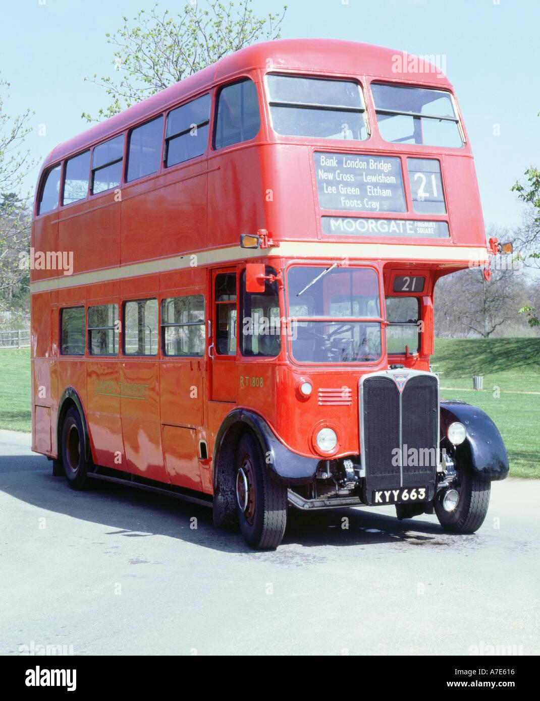 1950 AEC RT double decker London bus - Stock Image