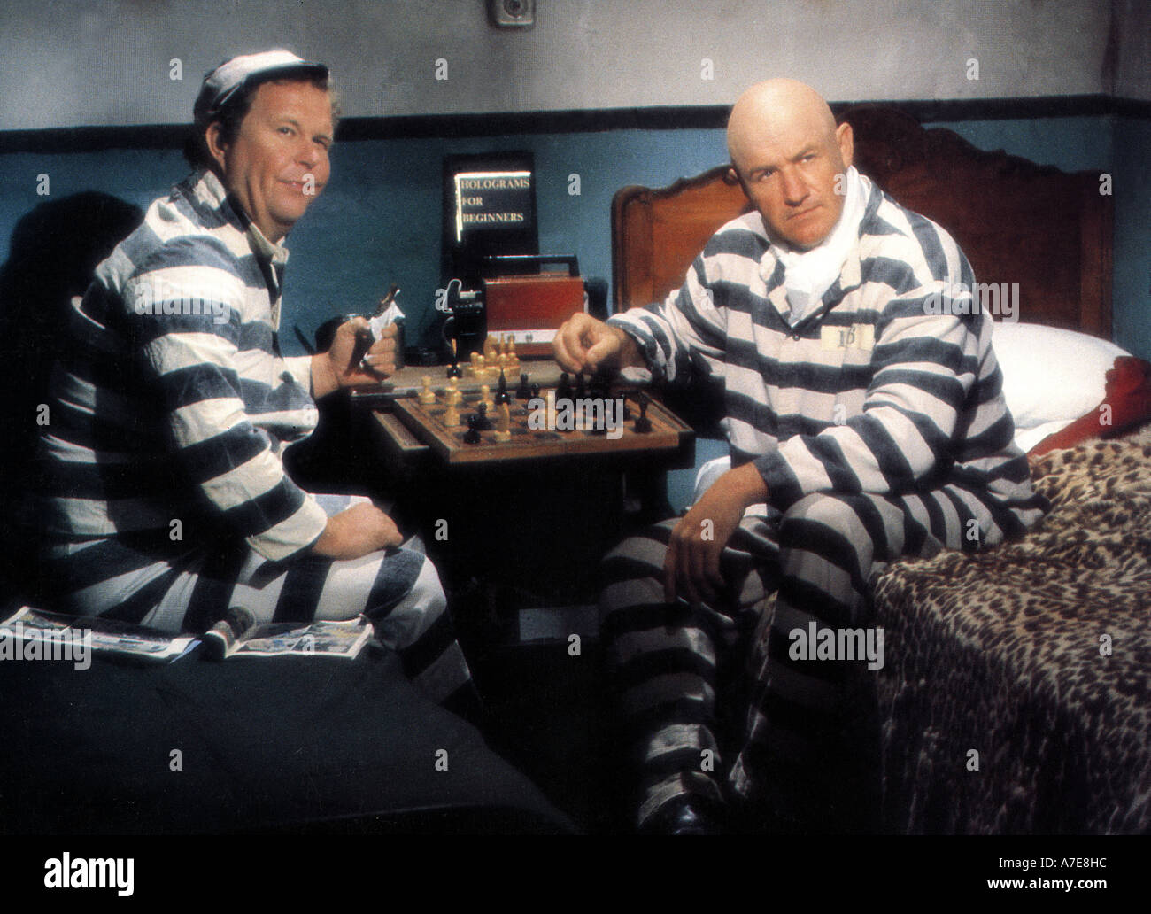 SUPERMAN II Gne Hackman at right with Ned Beatty in the 1980 Warner film - Stock Image