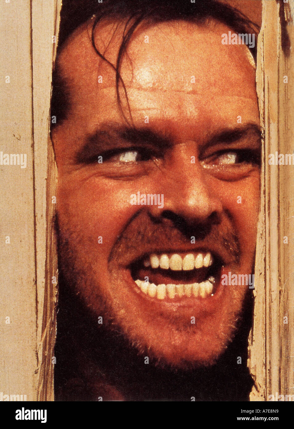 THE SHINING Jack Nicholson in the 1980 Warner film - Stock Image