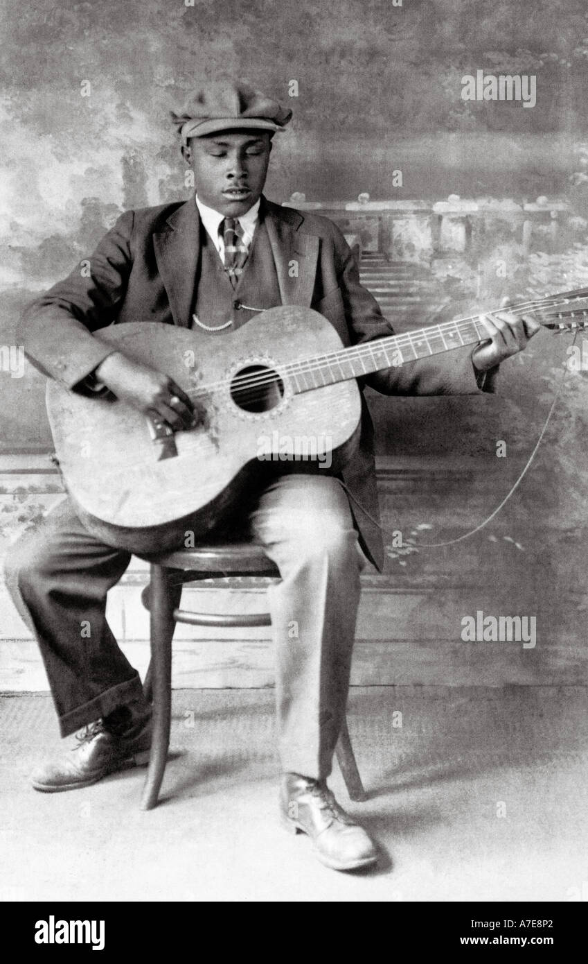 BLIND WILLIE McTELL  US Blues musician - Stock Image