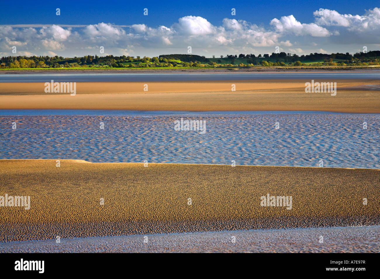Horizontal format picture of the Lower River Severn Gloucestershire England - Stock Image