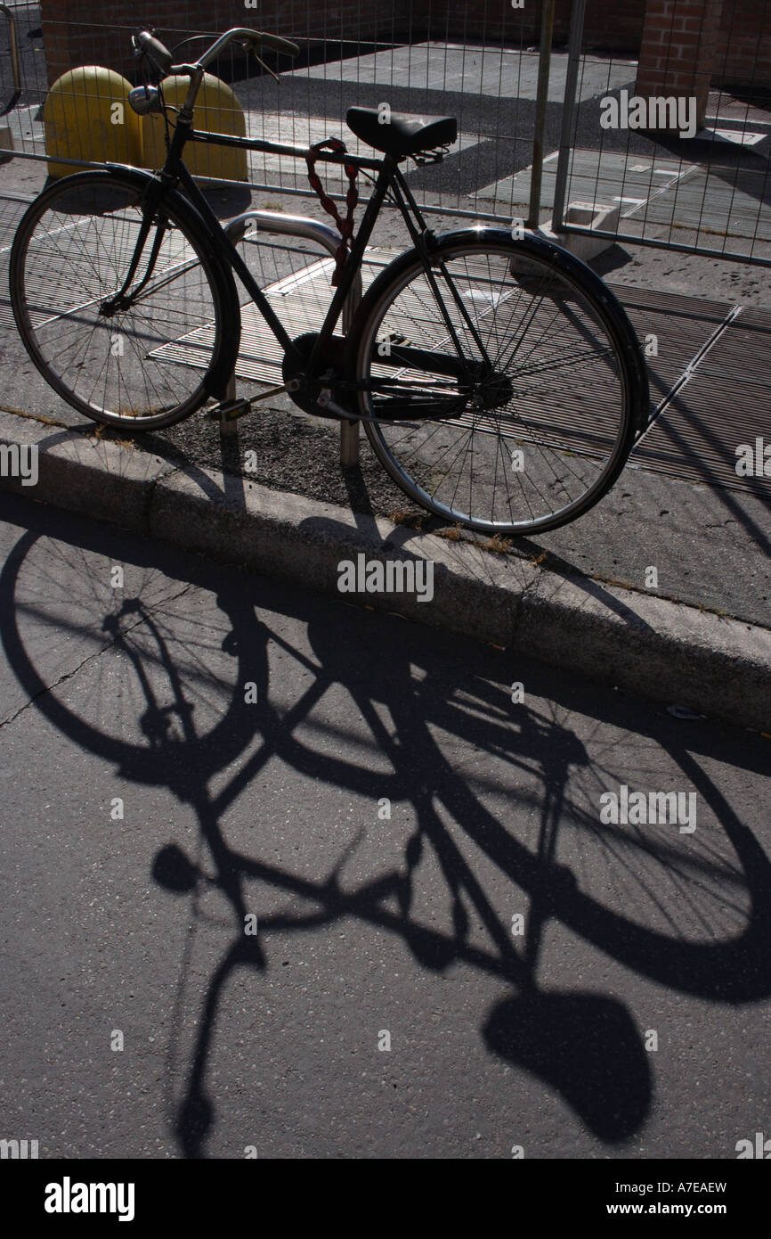 Broken Down Abandoned Stock Photos Broken Down Abandoned: Broken Down Rusty Used Bicycle Shadow Outdoors Stock