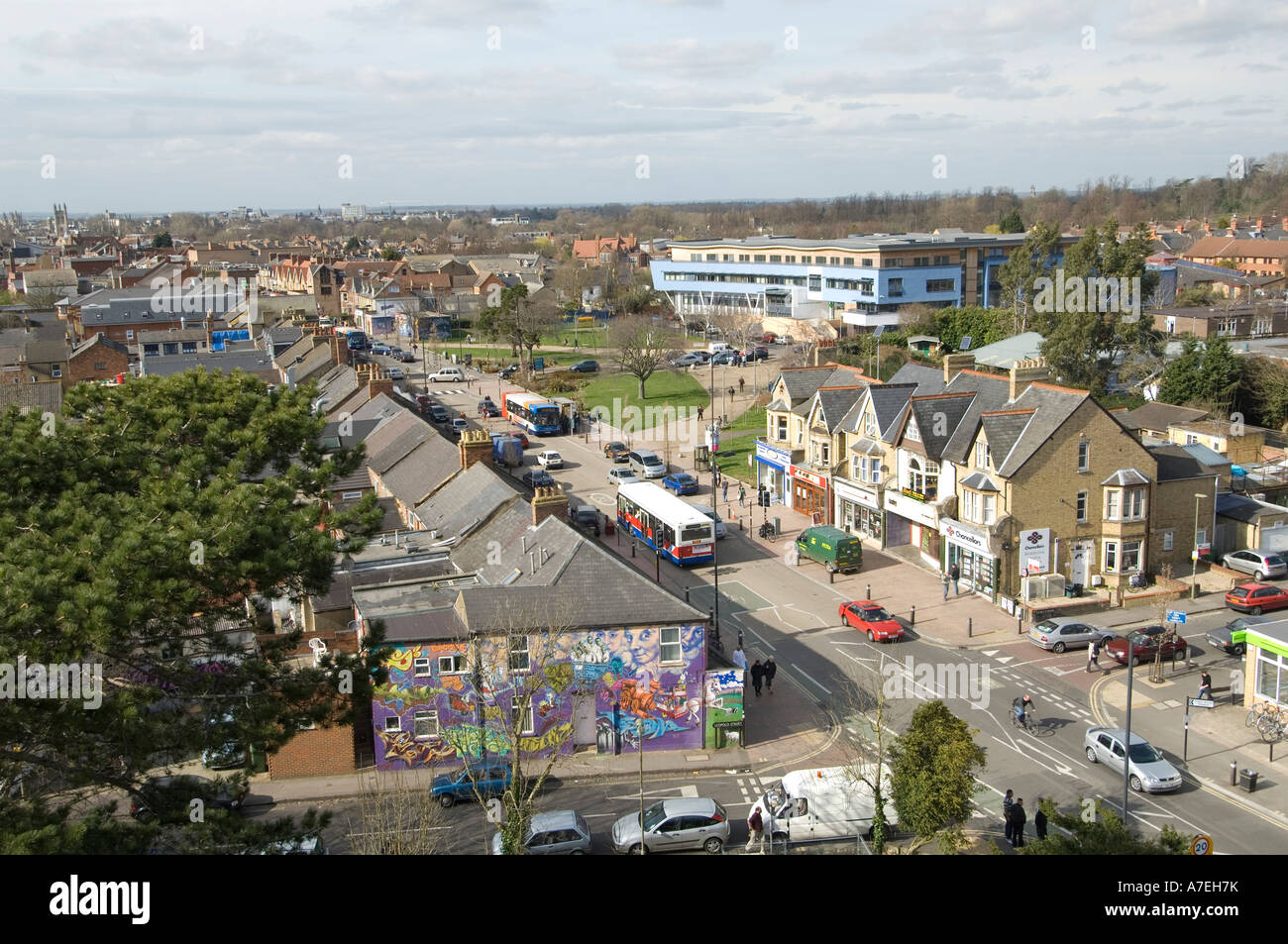 the Cowley Rd in east Oxford a multicultural area full of all sorts Pic Rob Judges - Stock Image