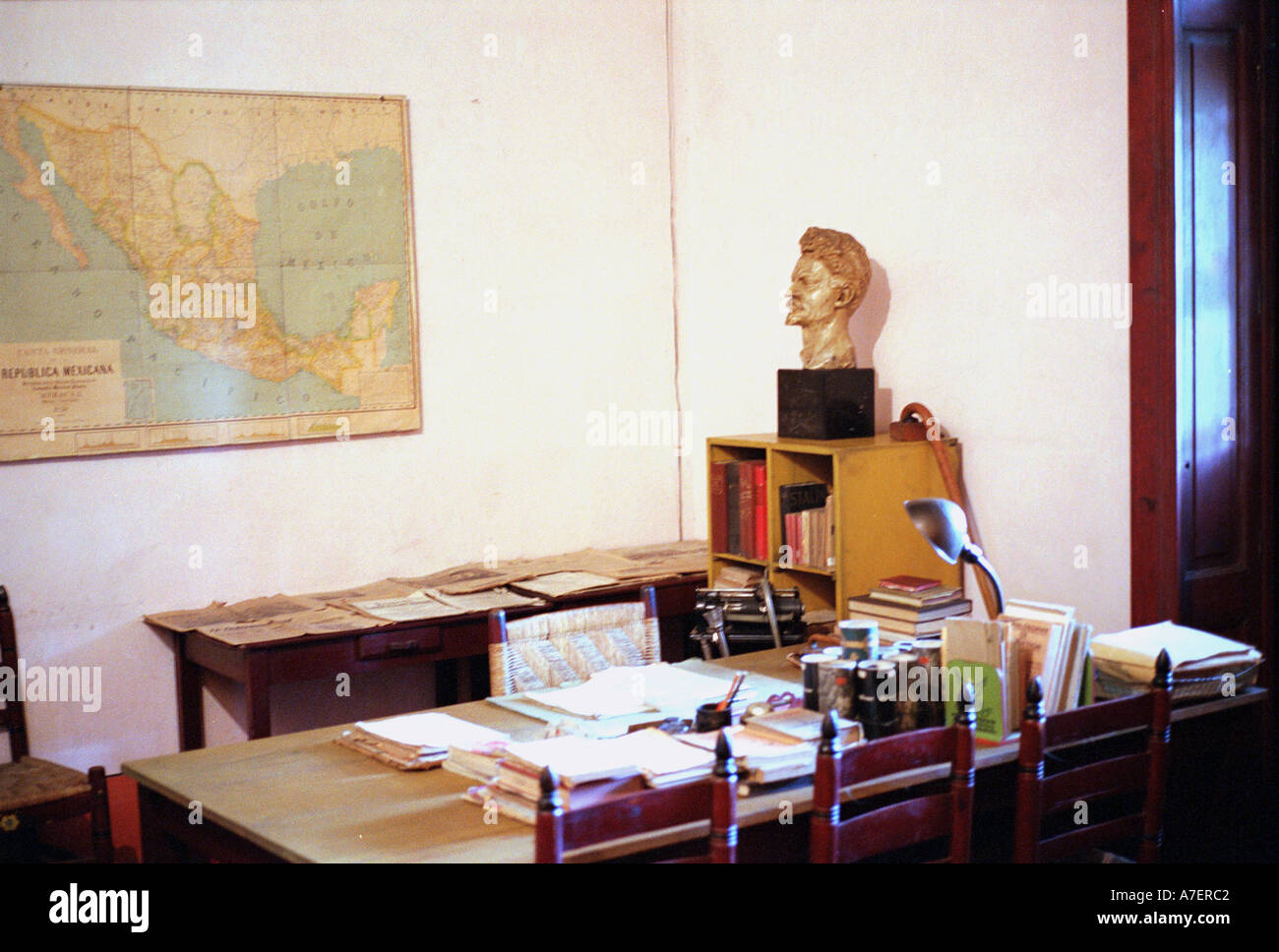 Mexico. Leon Trotsky's study, the place of his assasination. - Stock Image