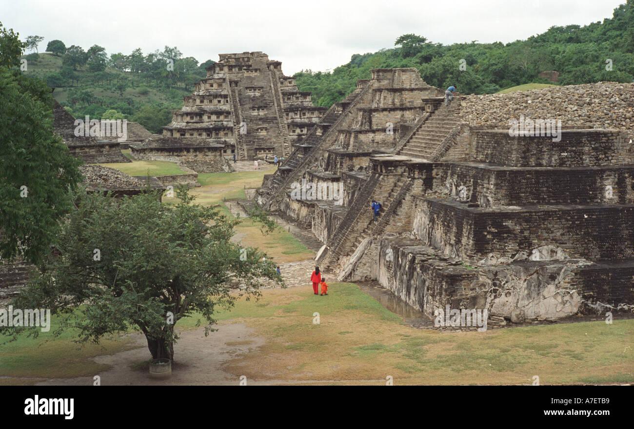 North America, Mexico, Veracruz, Mayan ruins of Tajin. UNESCO Patrimony of Humanity site. - Stock Image