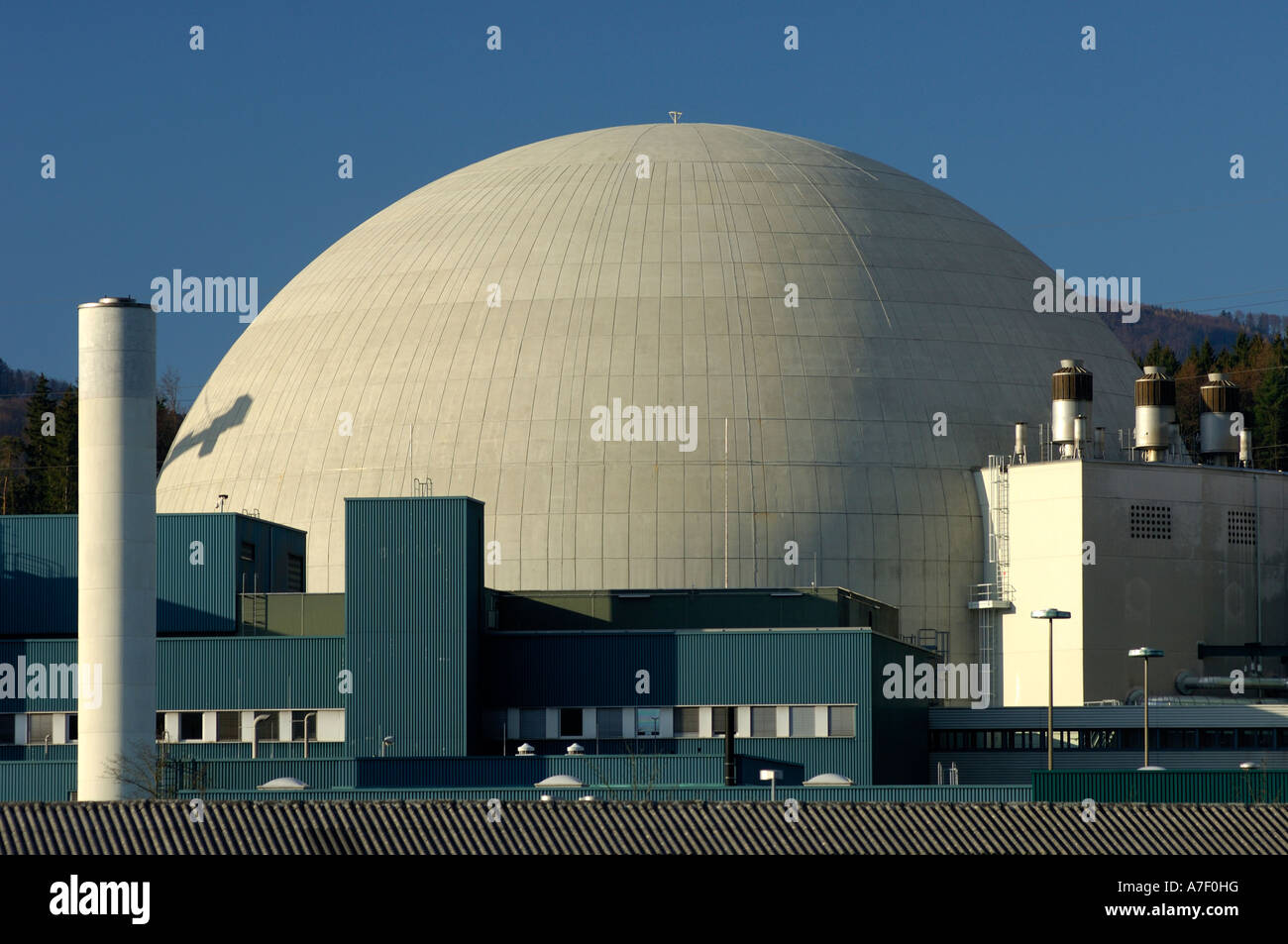 Reactor dome, Nuclear power plant Goesgen, Switzerland - Stock Image