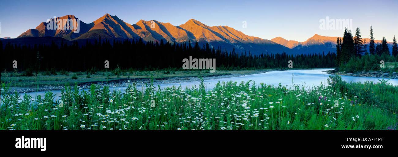 The Kootenay River The Rockies Kootenay National Park British Columbia Canada - Stock Image